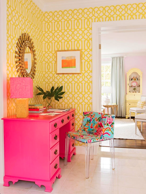 Popular Office Decor Ideas  The Fab Guide  A Cute Pink And Lavender Office