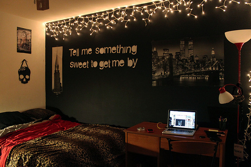Cute Decor luzes no quarto — Niina Secrets ~ 100354_Cheetah Dorm Room Ideas
