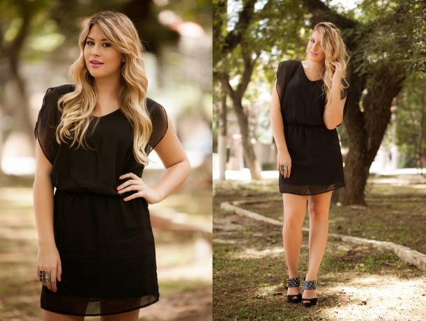 9a56a60a9 Toda mulher precisa de um vestido preto básico, eu adoro, porque é super  versátil. Dependendo do penteado, maquiagem, sapato e acessórios, o vestido  preto ...