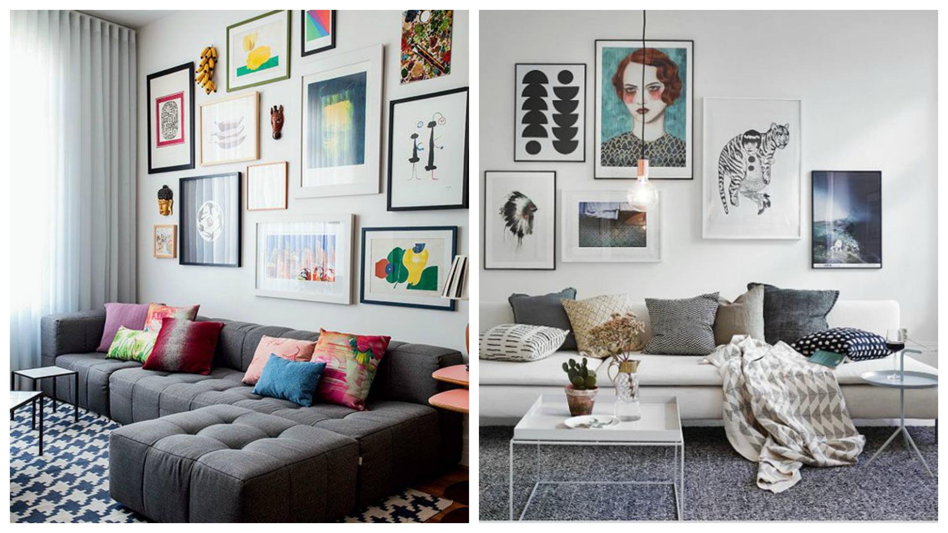 Sala De Estar Wdk Letra ~ de quadros com molduras formatos e estilos de arte diferentes