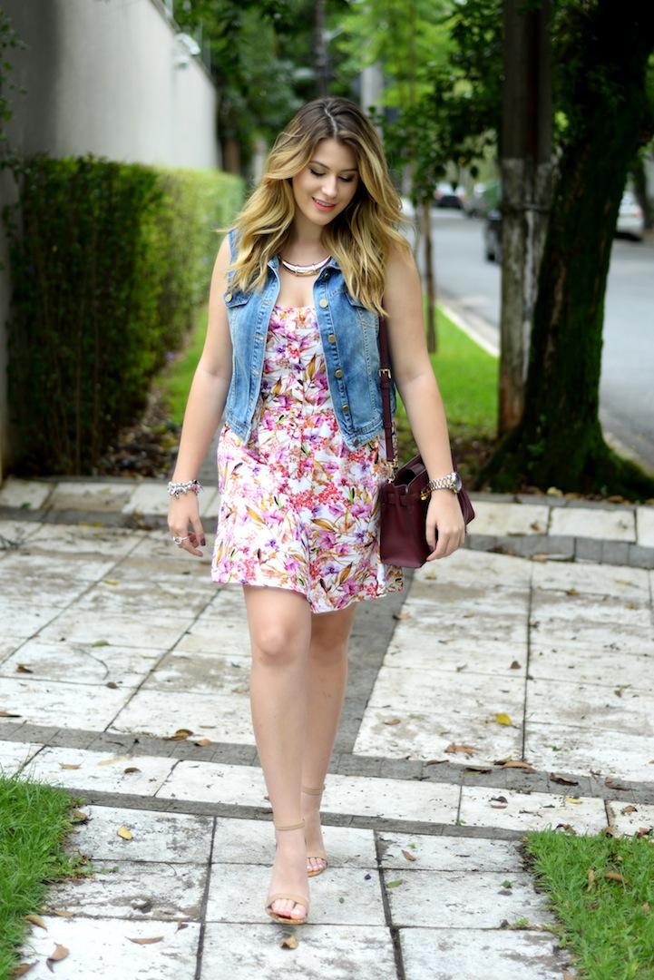 Vestidos jeans florido