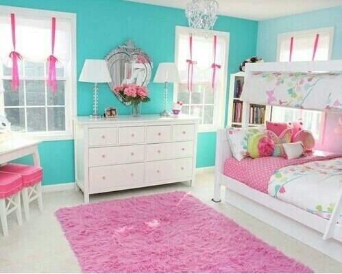 turquesa e rosa